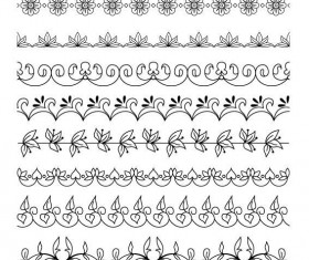 Simple floral ornaments borders vector 01