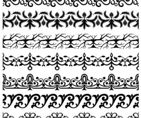 Simple floral ornaments borders vector 02