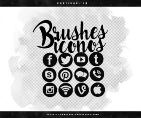 Social Media Photoshop Brushes