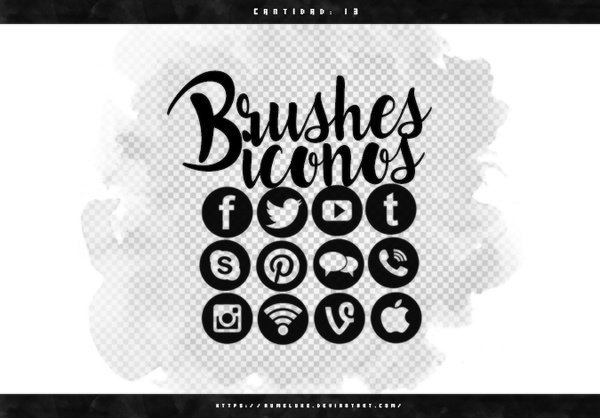 Social Media Photoshop Brushes free download