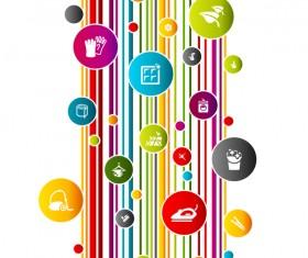 Social concept business template design vector 03