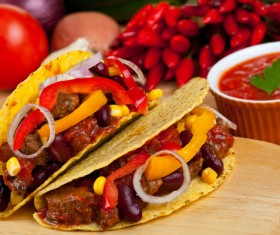 Spicy tacos Stock Photo