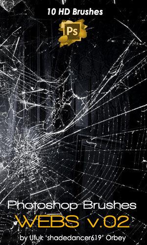 Spider Web Photoshop Brushes Set