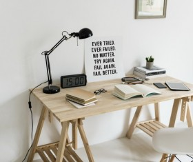 Student home writing desk Stock Photo