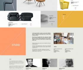 Studio portfolio website PSD template design