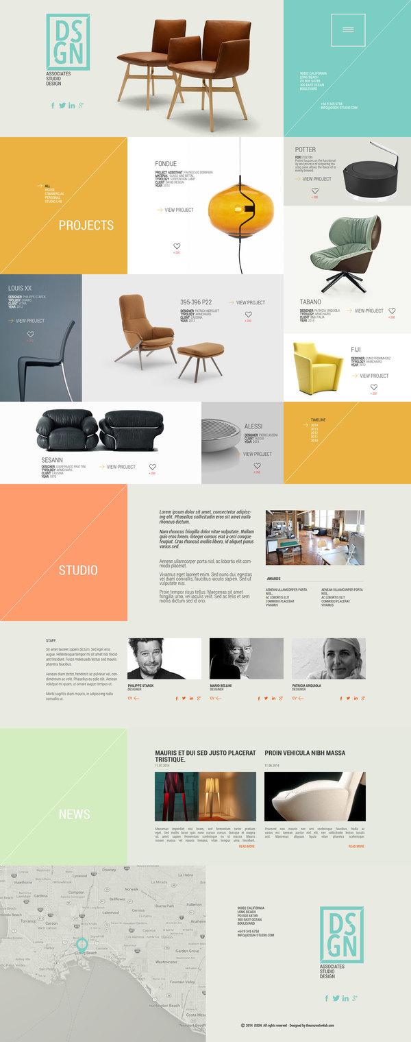 Studio portfolio website PSD template design