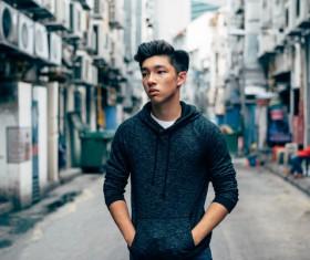 Stylish young asian man Stock Photo
