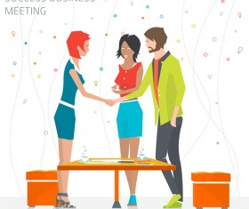 Success business meeting vector material 02