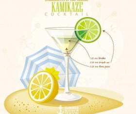 Summer season cocktails poster design vectors 08