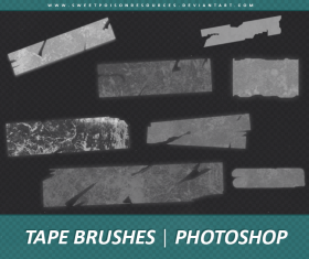 Tape Photoshop Brushes