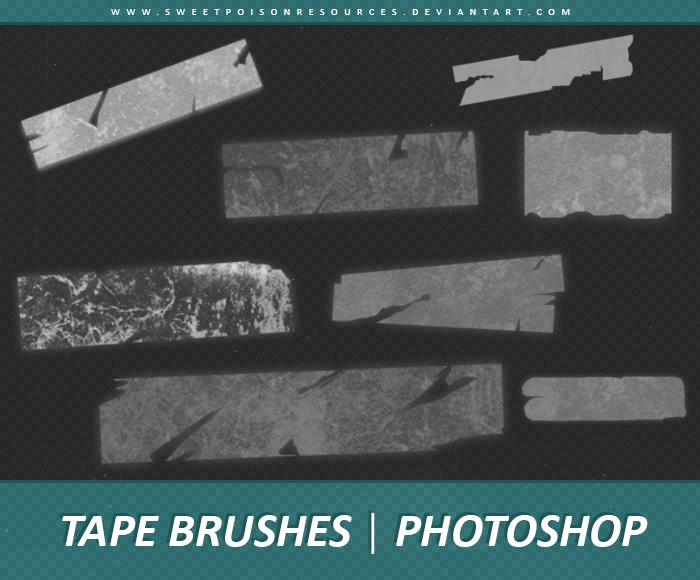 Tape Photoshop Brushes