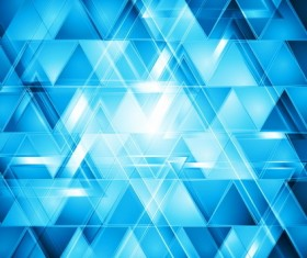 Triangle blue background vector material