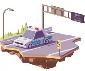 Turkey police car on the highway vector