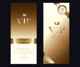 VIP invitation card vertical banner vector 01