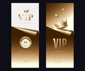 VIP invitation card vertical banner vector 02