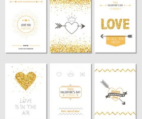 Valentine card with brochure cover vector 02