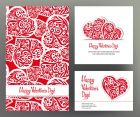 Valentine day card template vector kit 03