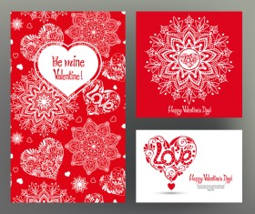 Valentine day card template vector kit 04