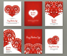 Valentine flyer with brochure cover template vector 03