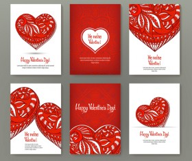 Valentine flyer with brochure cover template vector 04