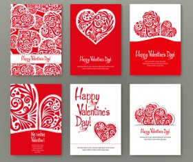 Valentine flyer with brochure cover template vector 05