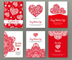 Valentine flyer with brochure cover template vector 06