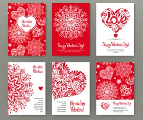 Valentine flyer with brochure cover template vector 07