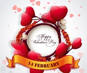Valentine frame with heart background vector