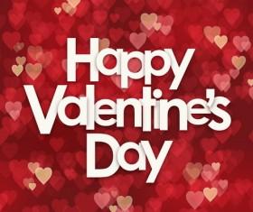 Valentine heart blurs background vector