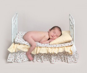 Various sleeping position cute baby Stock Photo 02