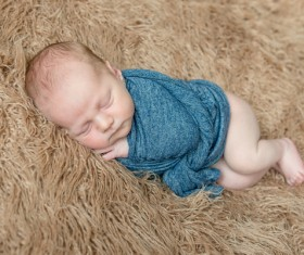 Various sleeping position cute baby Stock Photo 03