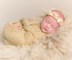 Various sleeping position cute baby Stock Photo 08