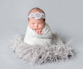 Various sleeping position cute baby Stock Photo 09