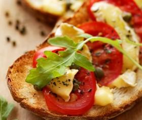 Vegetable cheese sandwich Stock Photo