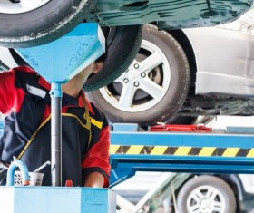 Vehicle chassis maintenance Stock Photo 01