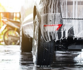 Vehicle cleaning Stock Photo 01
