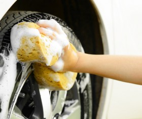 Vehicle cleaning Stock Photo 04