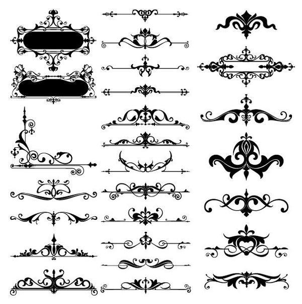 Vintage borders ornament design vector
