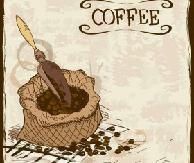 Vintage coffee poster template design vector 01