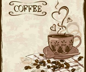 Vintage coffee poster template design vector 02