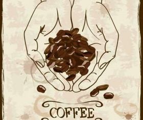 Vintage coffee poster template design vector 04