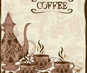 Vintage coffee poster template design vector 05