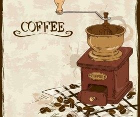 Vintage coffee poster template design vector 06