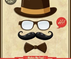 Vintage hipster poster template vector