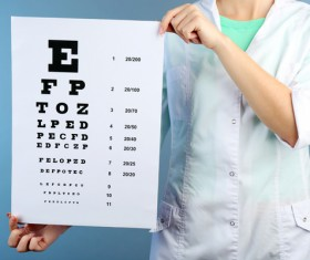 Vision test table Stock Photo