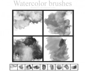 Watercolor Effect Photoshop Brushes