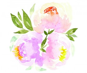 Watercolor Prints Stock Photo 01