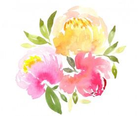 Watercolor Prints Stock Photo 02