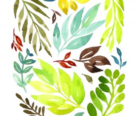 Watercolor Prints Stock Photo 05