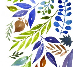 Watercolor Prints Stock Photo 06